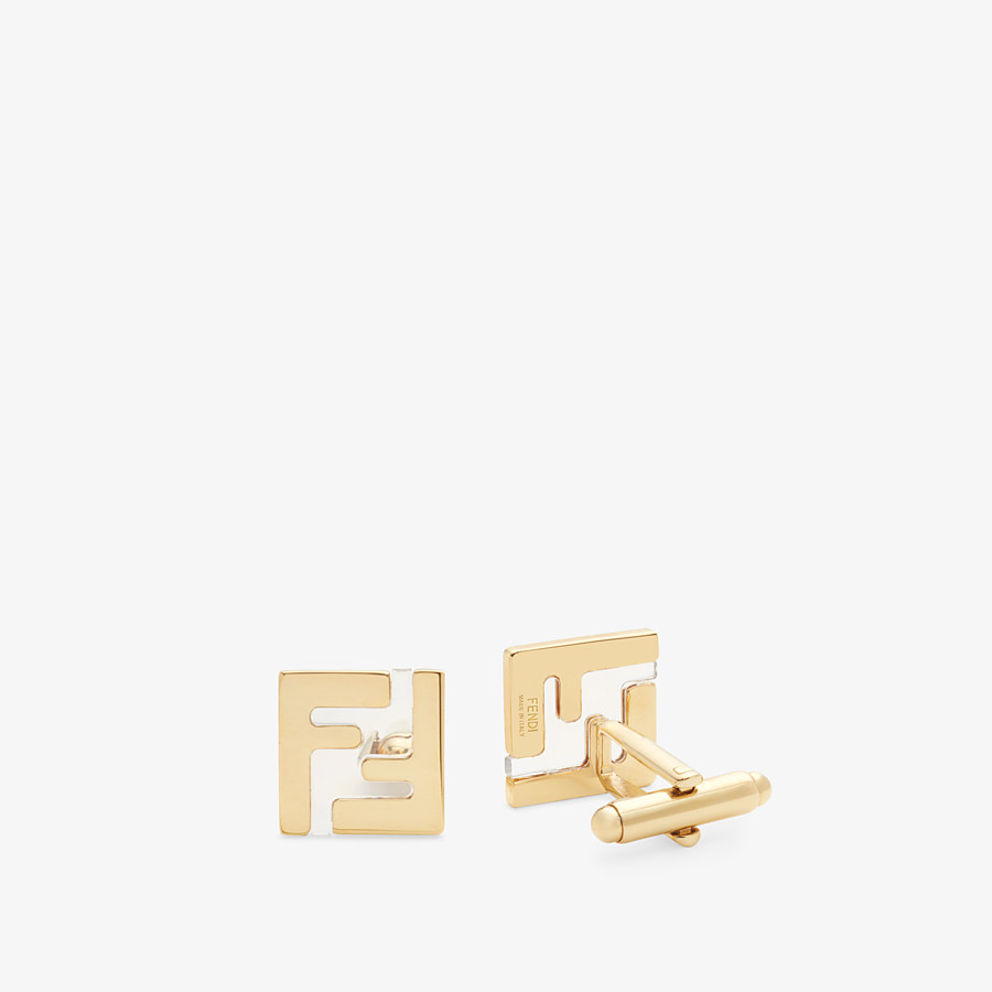 FENDI CUFFLINKS - Gold-coloured cufflinks - view 1 detail