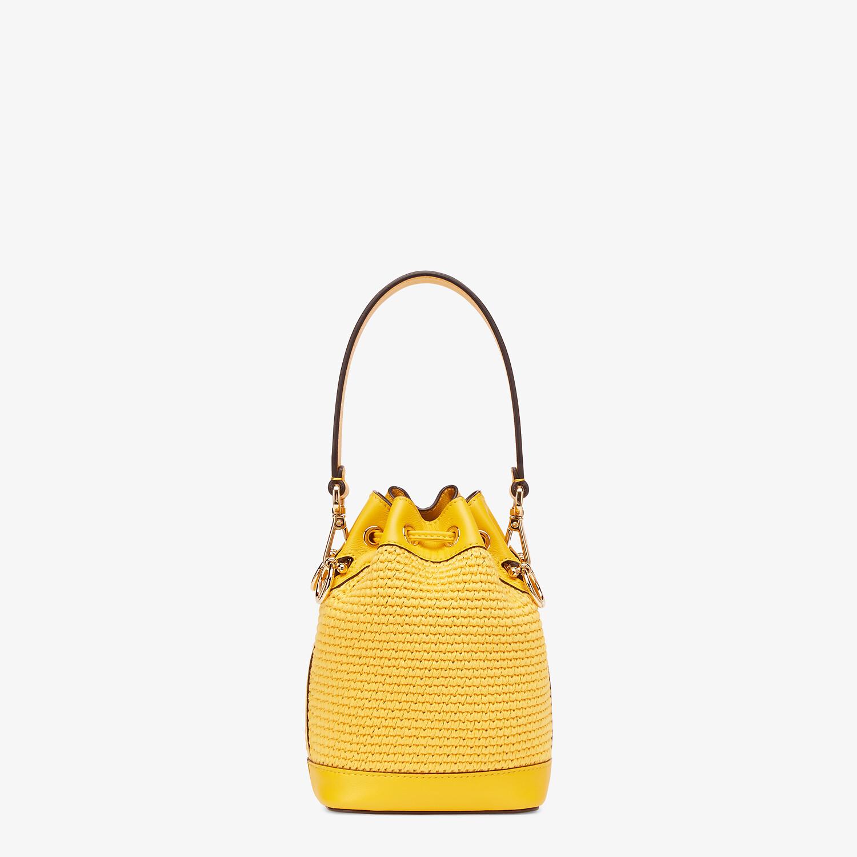 FENDI MON TRESOR - Yellow crochet cotton mini-bag - view 4 detail