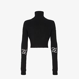 FENDI SWEATER - Black wool and cashmere sweater - view 2 thumbnail