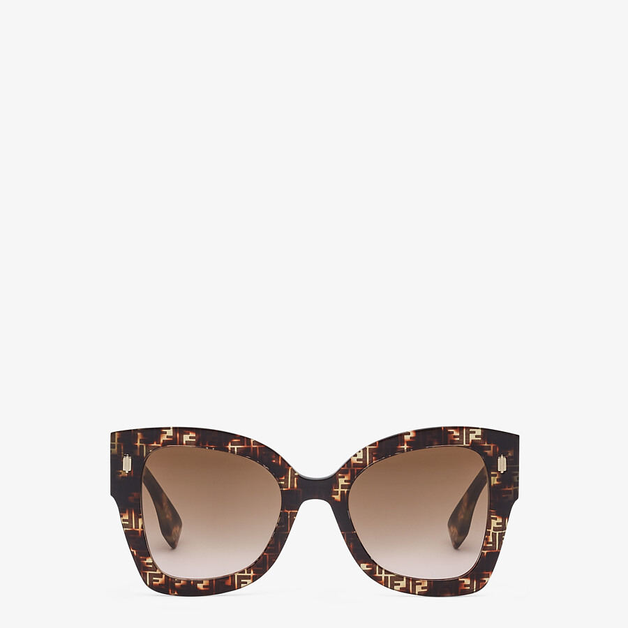 FENDI FENDI ROMA - FF Havana acetate sunglasses - view 1 detail