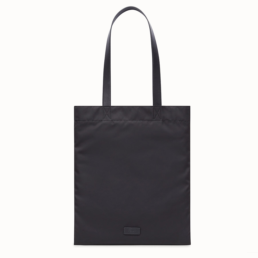 FENDI SLIM TOTE - Black nylon tote - view 3 detail