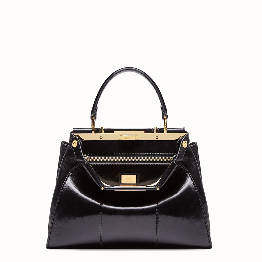 FENDI PEEKABOO ICONIC MEDIUM - Tasche aus Leder in Schwarz - view 1 detail