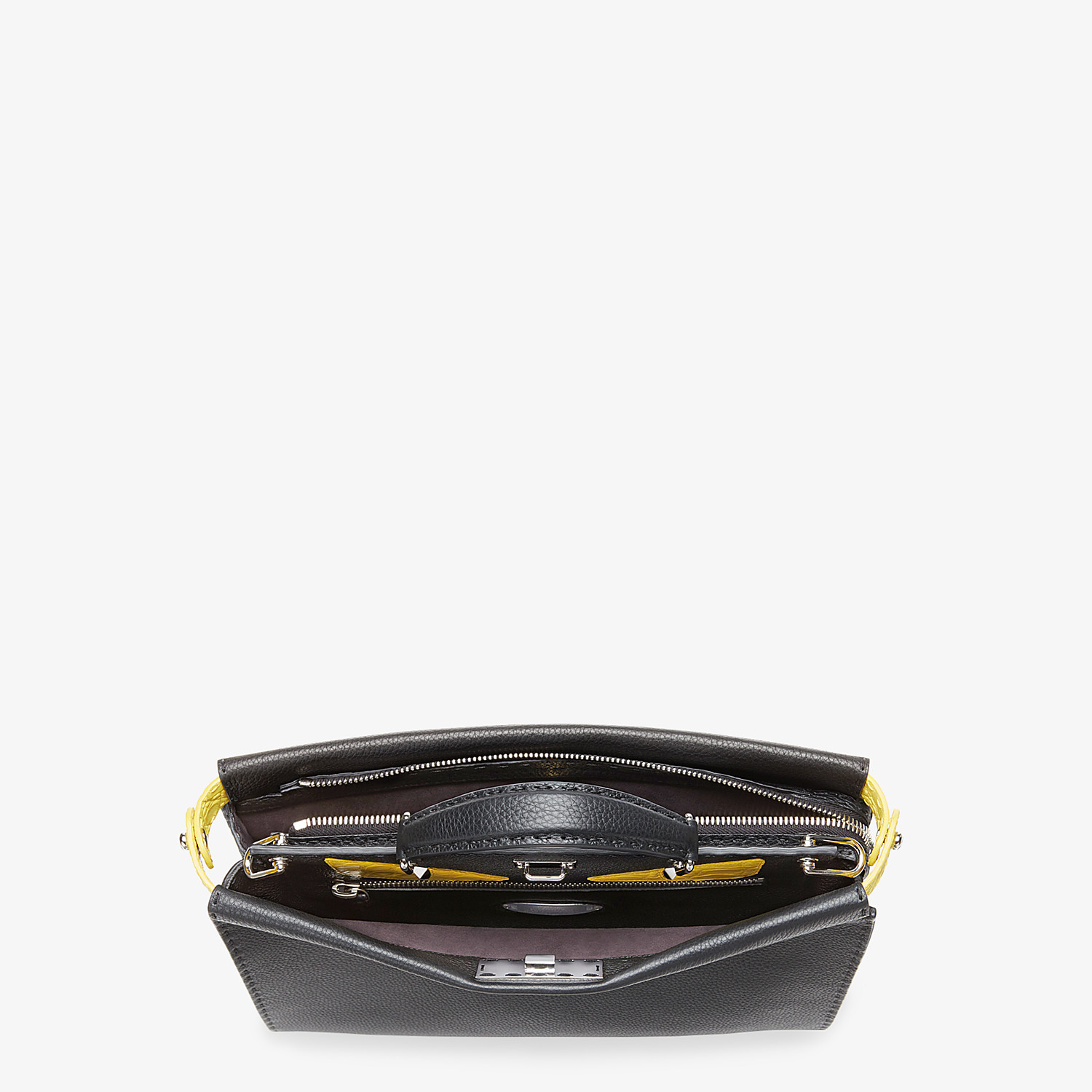 FENDI PEEKABOO ICONIC FIT - Black leather bag - view 4 detail