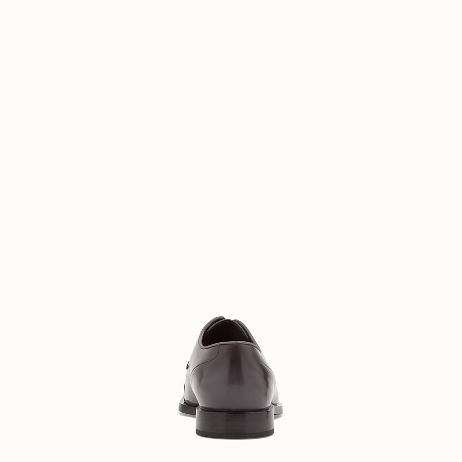 FENDI LACE-UP - Stringata in pelle grigia - vista 3 dettaglio