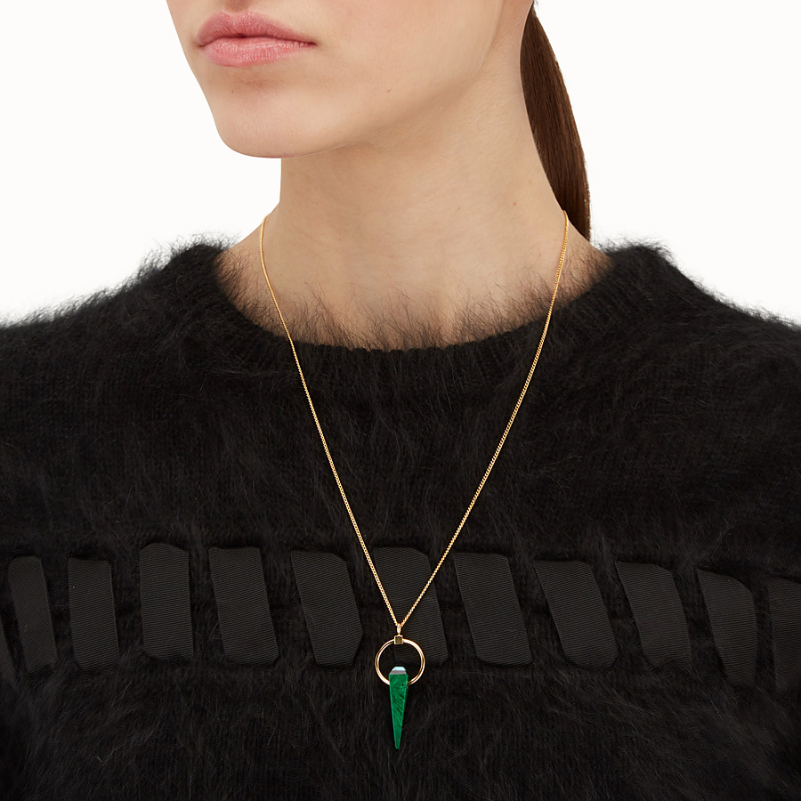 FENDI RAINBOW NECKLACE - Necklace with green charm - view 2 detail