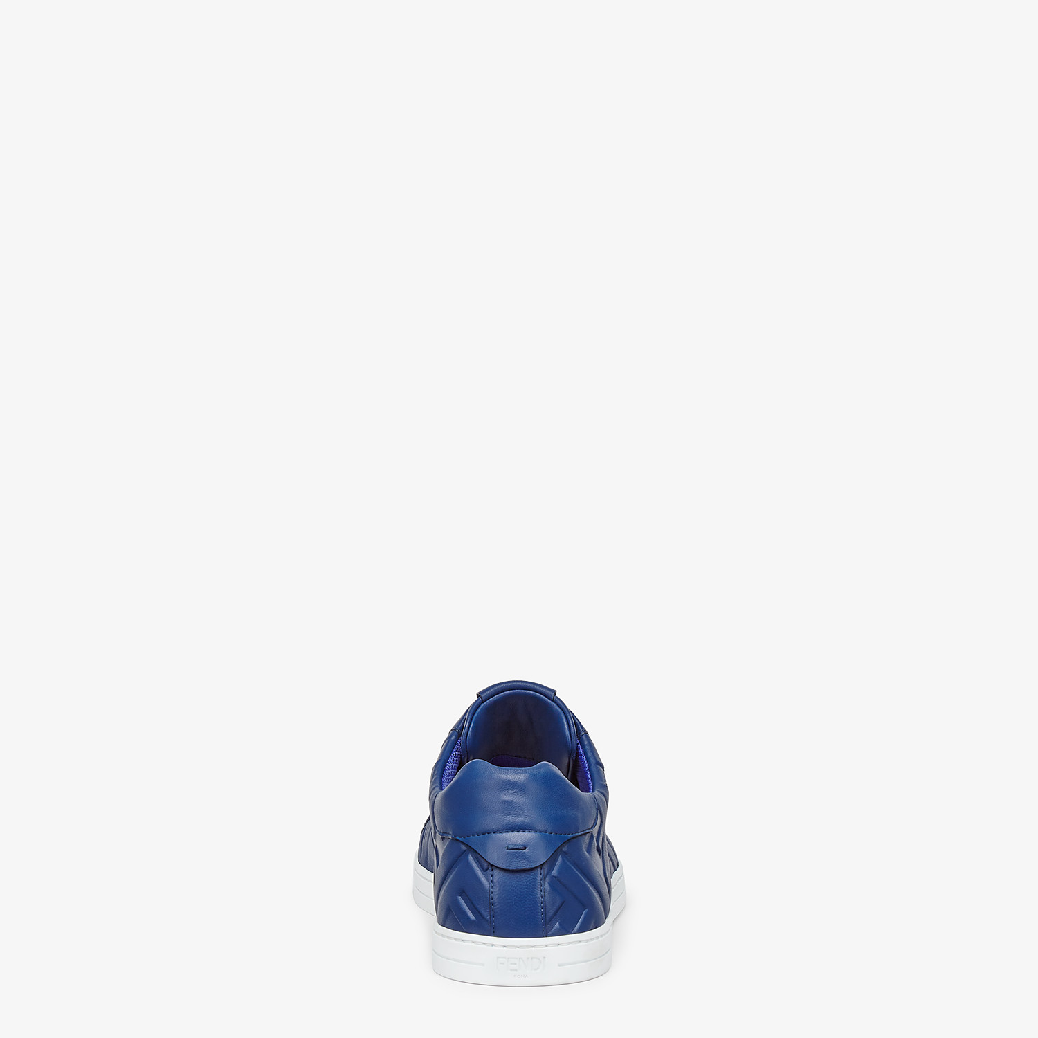 FENDI SNEAKERS - Blue nappa leather low-tops - view 3 detail