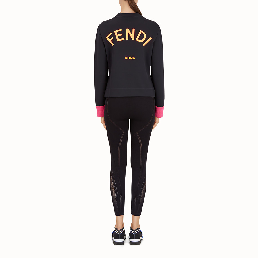 FENDI SWEATSHIRT - Black fabric sweatshirt - view 3 detail