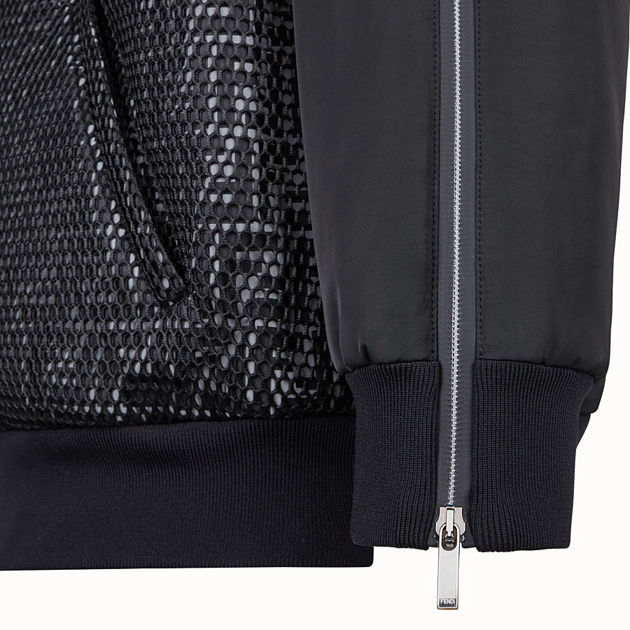 FENDI BOMBER - Black tech fabric jacket - view 3 detail