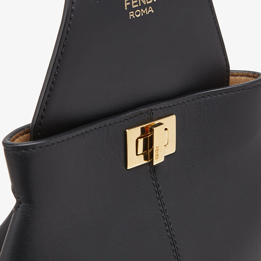 FENDI GUITAR BAG - Black leather mini-bag - view 6 detail