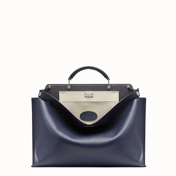 FENDI PEEKABOO ICONIC ESSENTIAL - Blue leather bag - view 1 small thumbnail