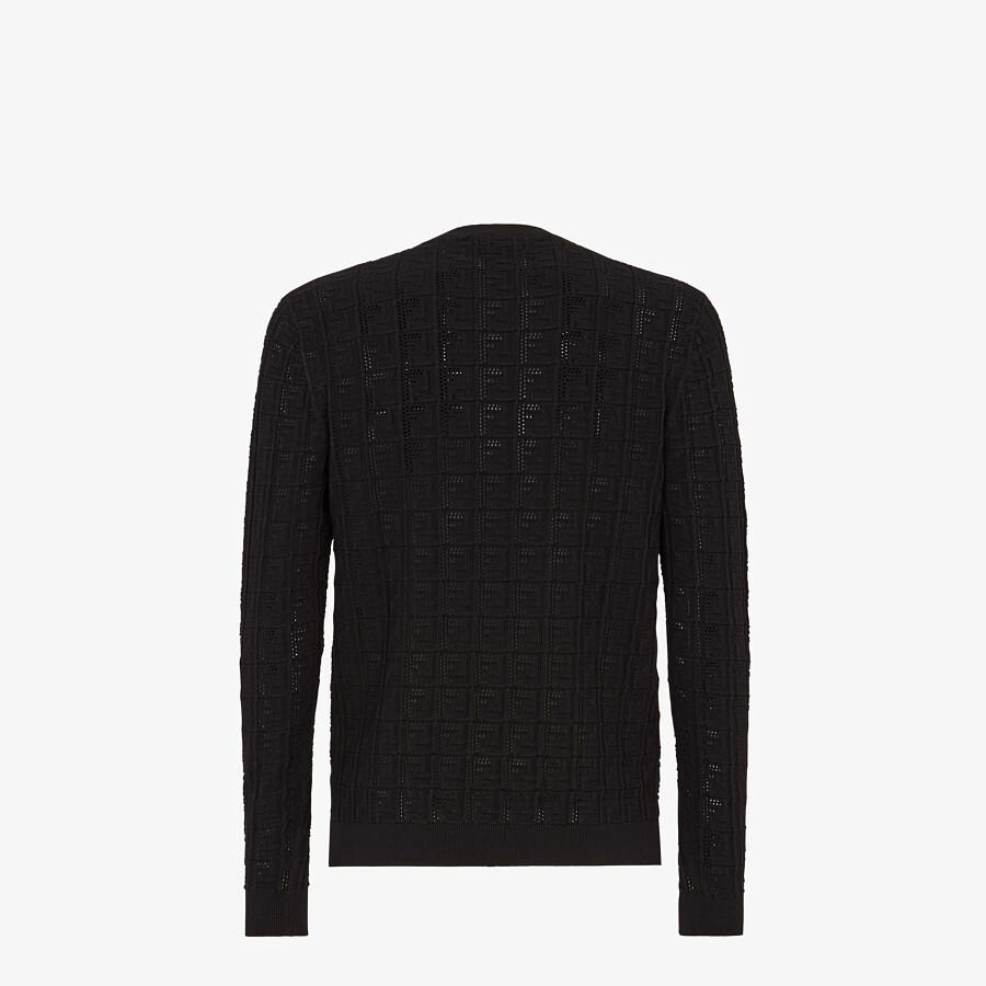 FENDI PULLOVER - Black cotton jumper - view 2 detail