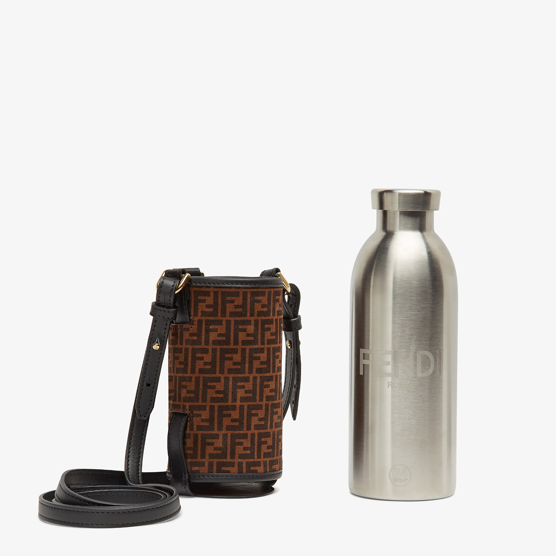 FENDI BOTTLE HOLDER - Brown leather flask holder - view 2 detail