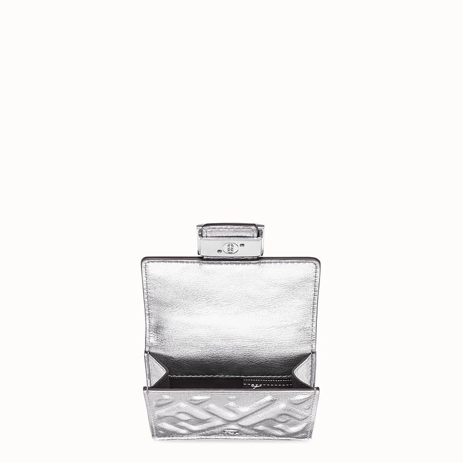 FENDI MICRO TRIFOLD - Silver leather wallet - view 3 detail