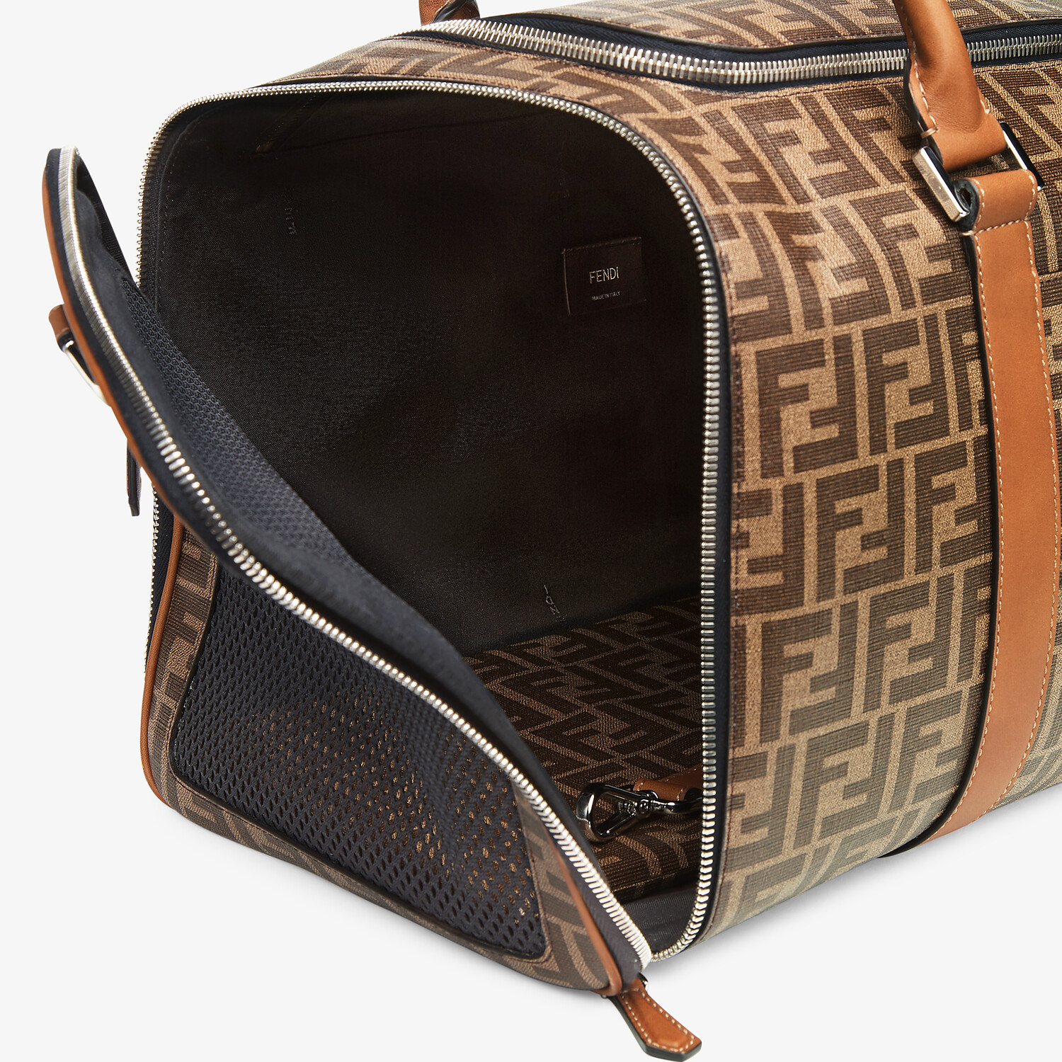 FENDI PET CARRIER - Brown fabric dog carrier - view 4 detail