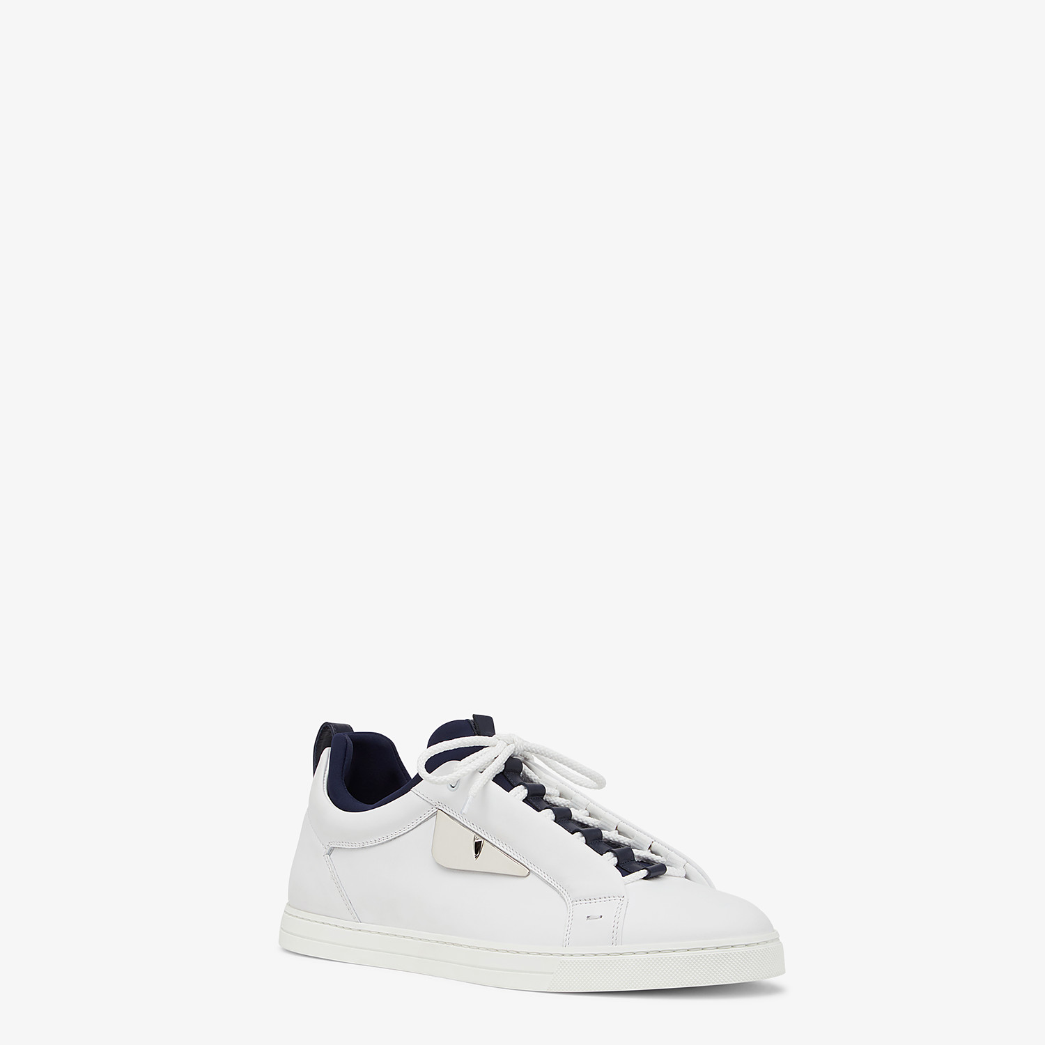 FENDI SNEAKERS - White leather low-tops - view 2 detail