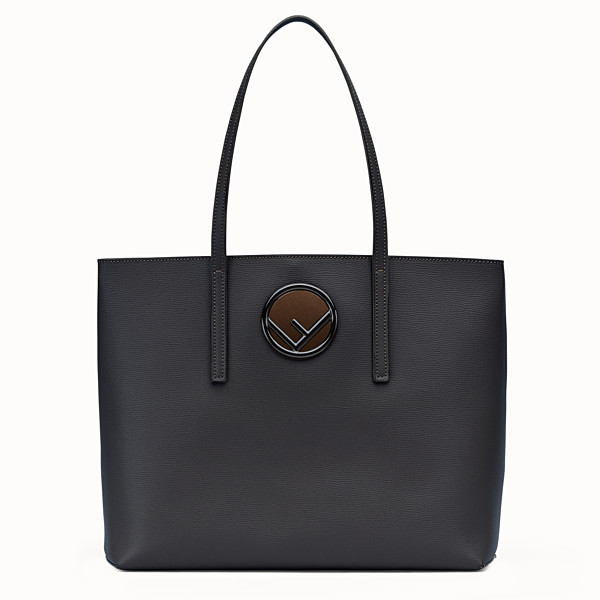 FENDI LOGO SHOPPING - Sac shopping en cuir noir - view 1 small thumbnail