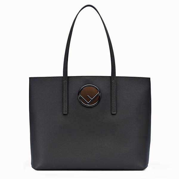 FENDI SHOPPER - Black leather shopper bag - view 1 small thumbnail