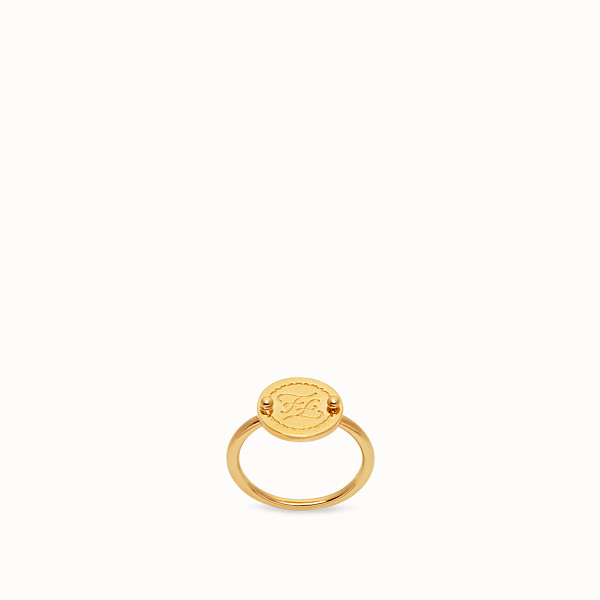 FENDI KARLIGRAPHY RING - Gold-colour ring - view 1 small thumbnail