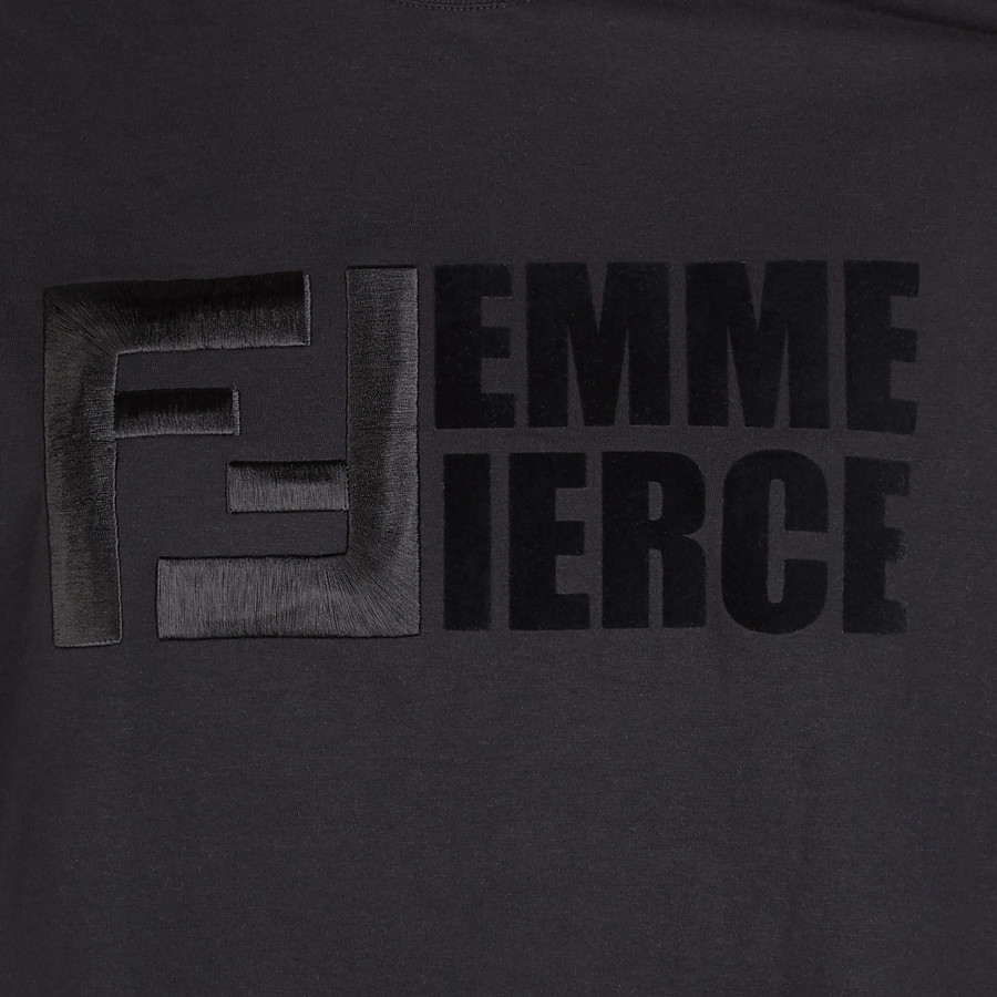 FENDI T-SHIRT - T-Shirt aus Baumwolle in Schwarz - view 3 detail