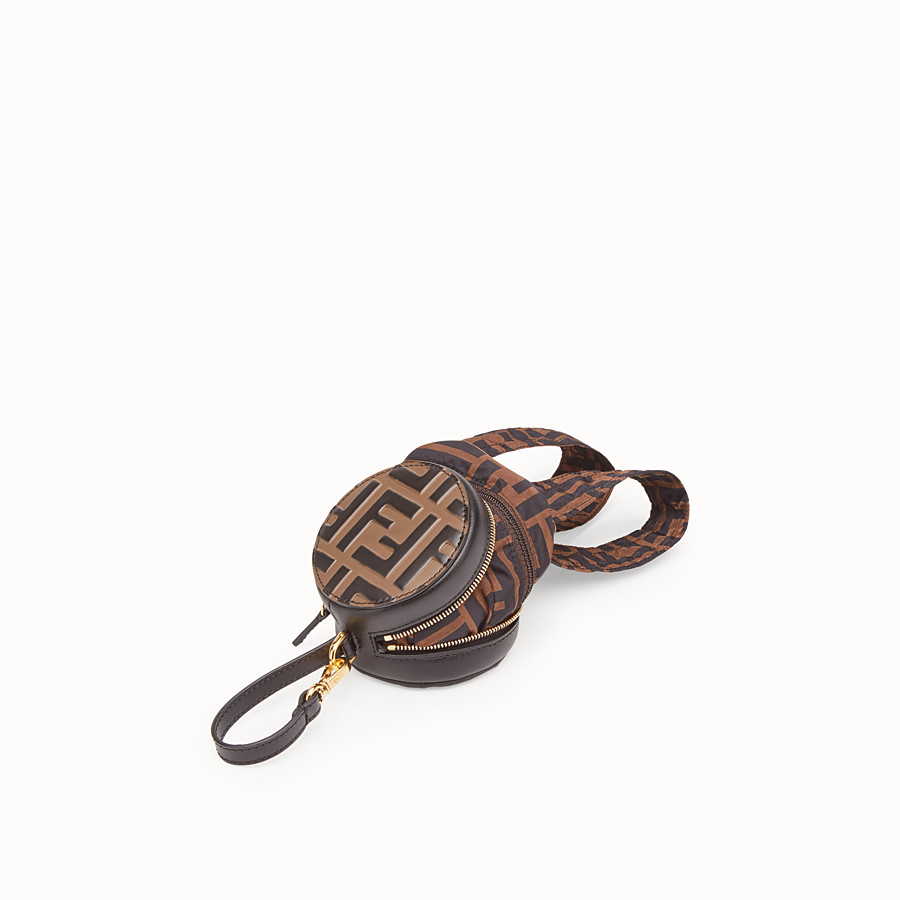 FENDI BACKPACK CHARM - Black leather charm - view 2 detail