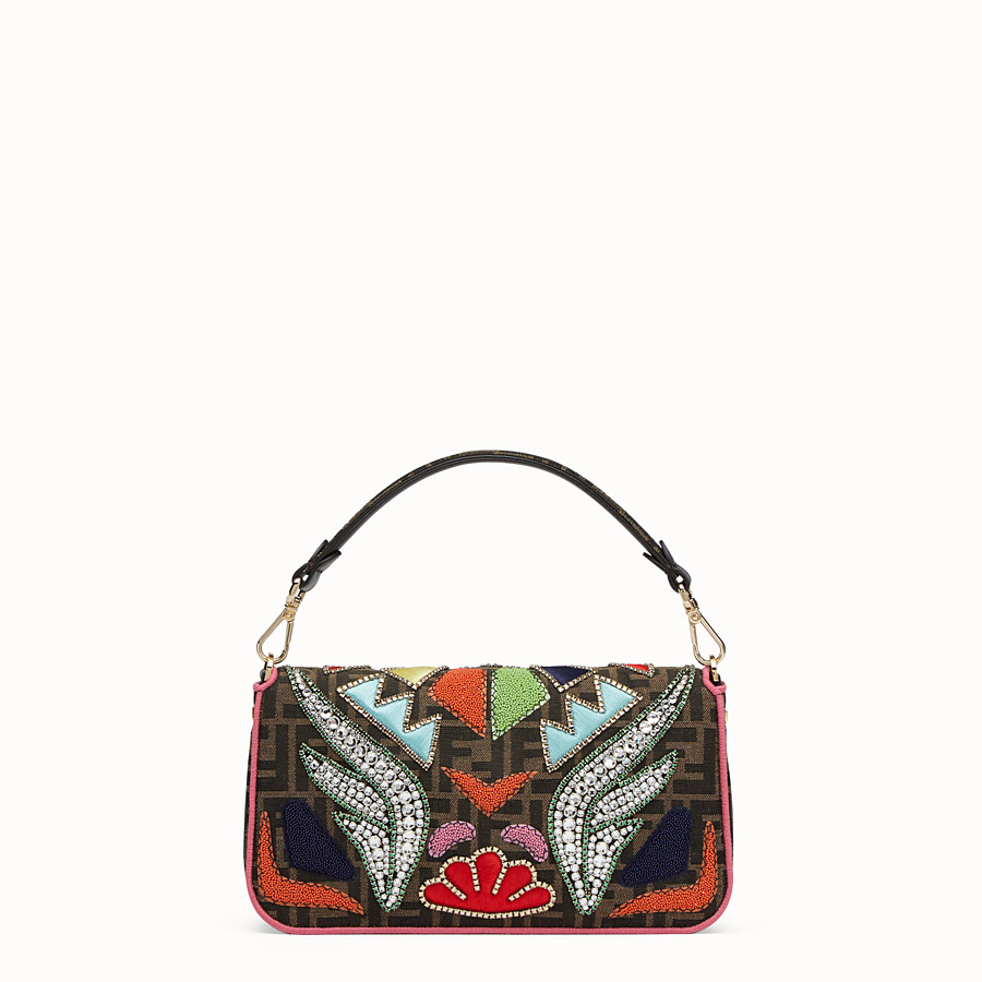FENDI BAGUETTE - Multicolour fabric bag - view 3 detail