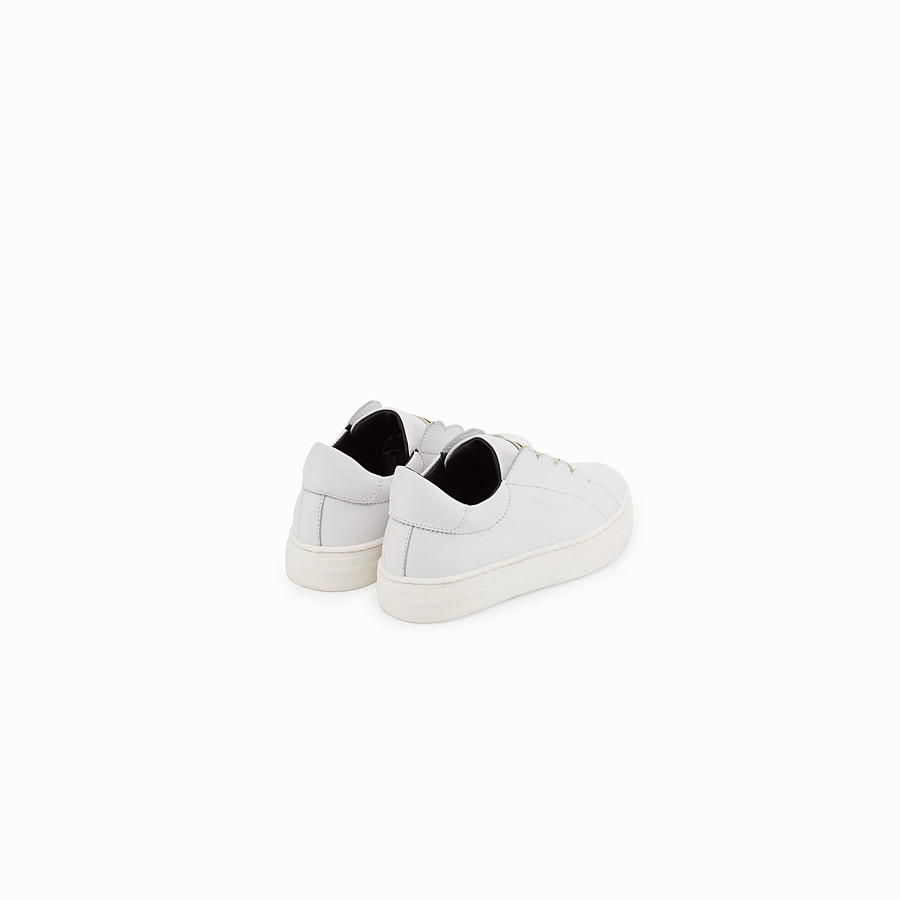 FENDI FIRST-STEPS SNEAKERS - White leather sneakers - view 3 detail