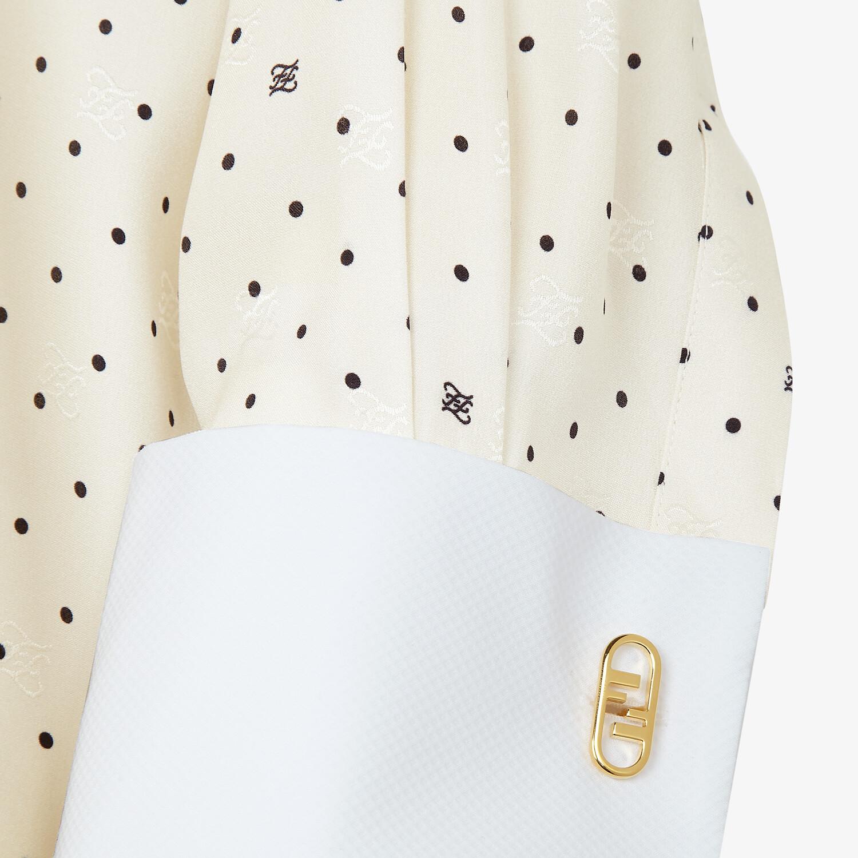 FENDI SHIRT - White satin crêpe shirt - view 3 detail