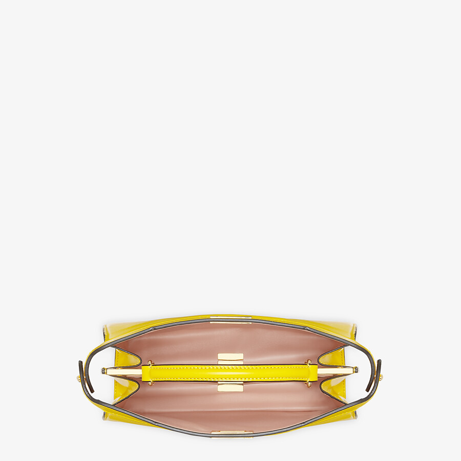 FENDI PEEKABOO ISEEU EAST-WEST - Yellow leather bag - view 4 detail