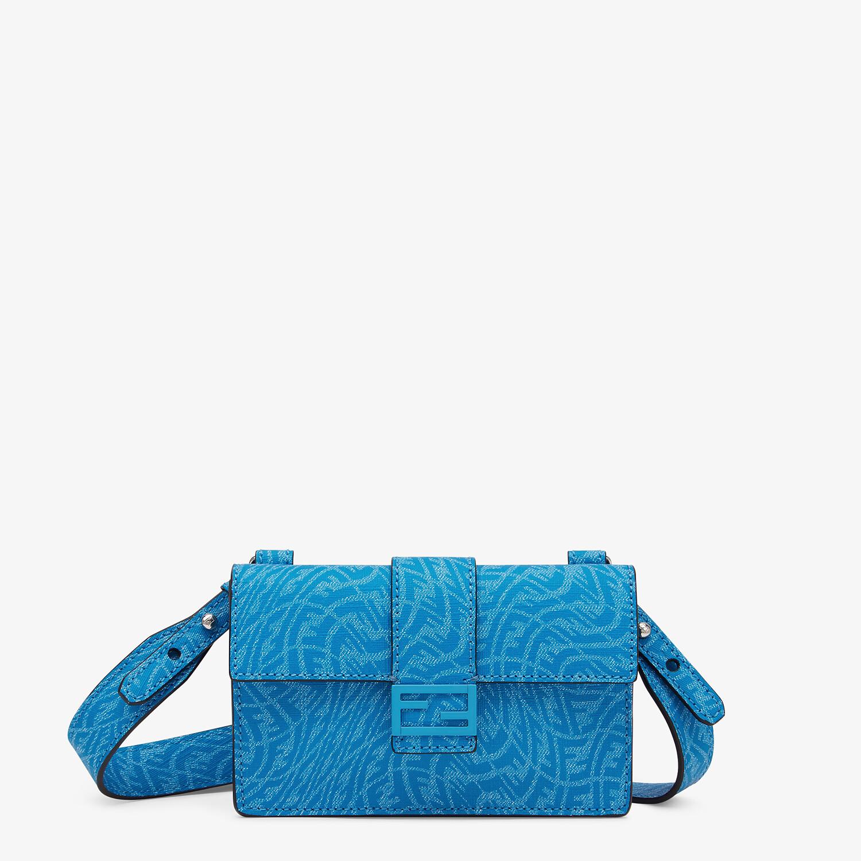 FENDI BAGUETTE POUCH - Blue fabric bag - view 1 detail