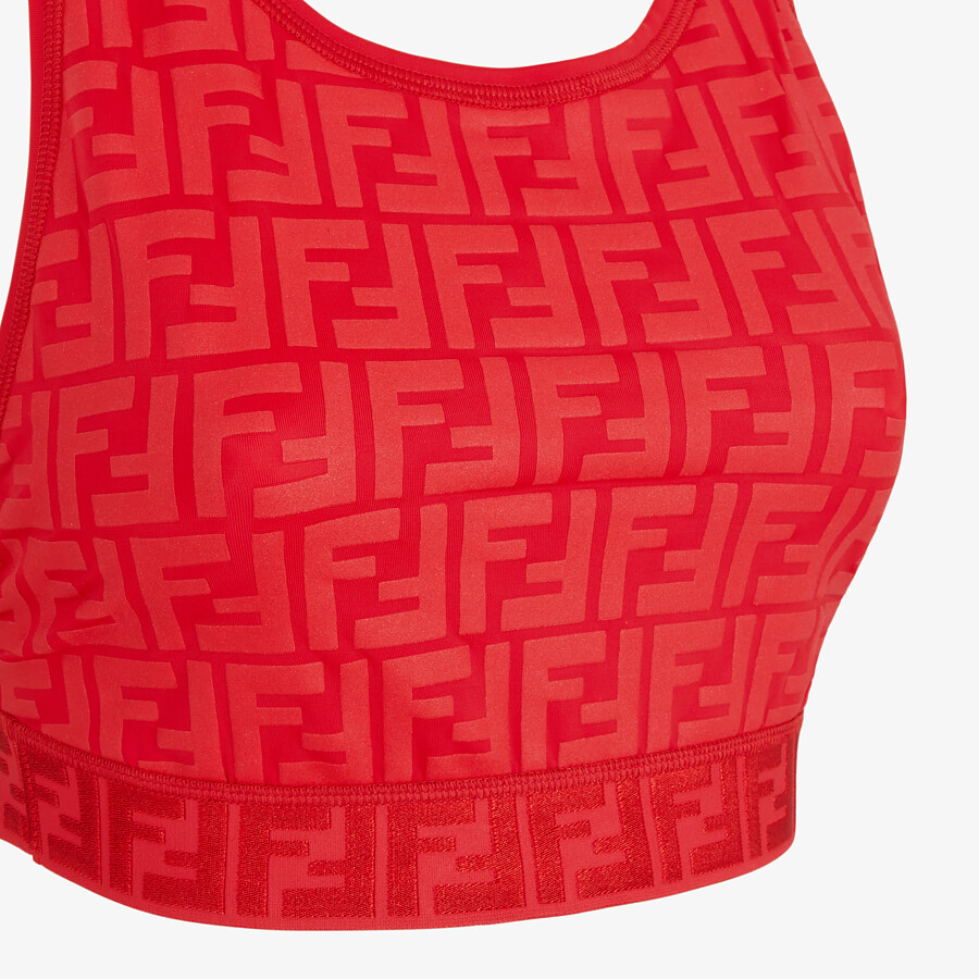 FENDI SPORTS TOP - Red tech fabric top - view 3 detail