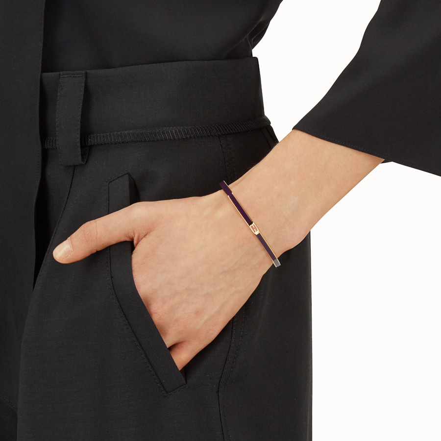 FENDI BAGUETTE BRACELET - Polished purple Baguette bangle - view 2 detail