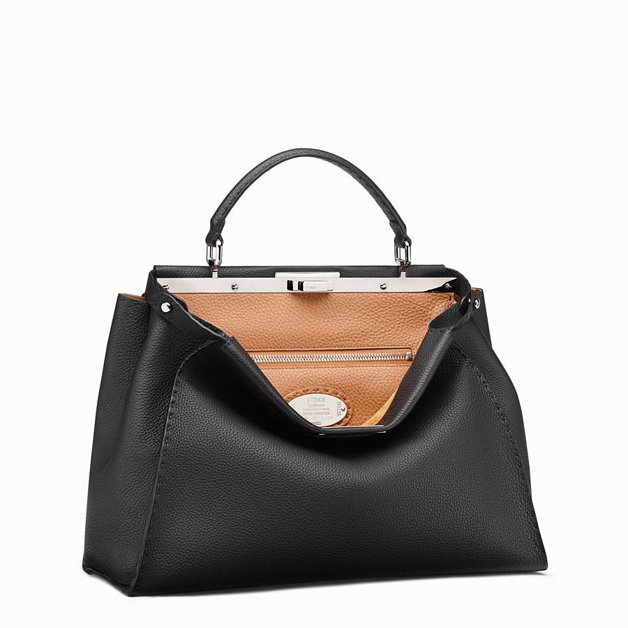 FENDI SELLERIA PEEKABOO - Black leather handbag - view 2 detail