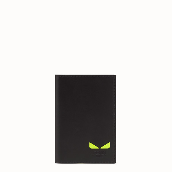 FENDI PASSPORT COVER - Black leather passport cover - view 1 small thumbnail