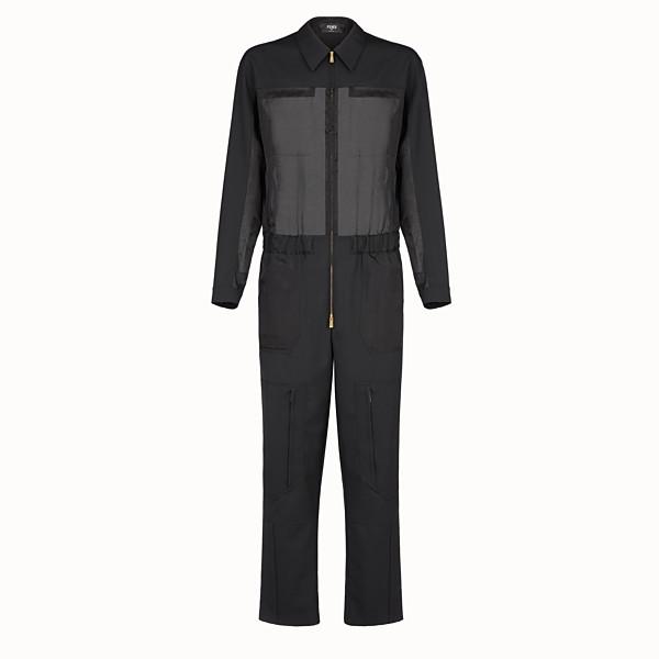 FENDI JUMPSUIT - Black tech fabric jumpsuit - view 1 small thumbnail