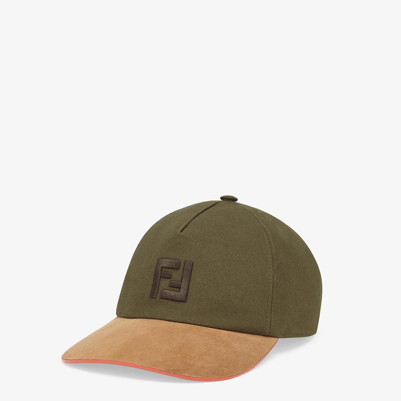 FENDI HAT - Green canvas baseball cap - view 1 detail