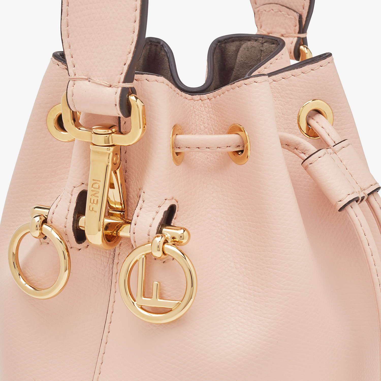 FENDI MON TRESOR - Pink leather mini-bag - view 5 detail