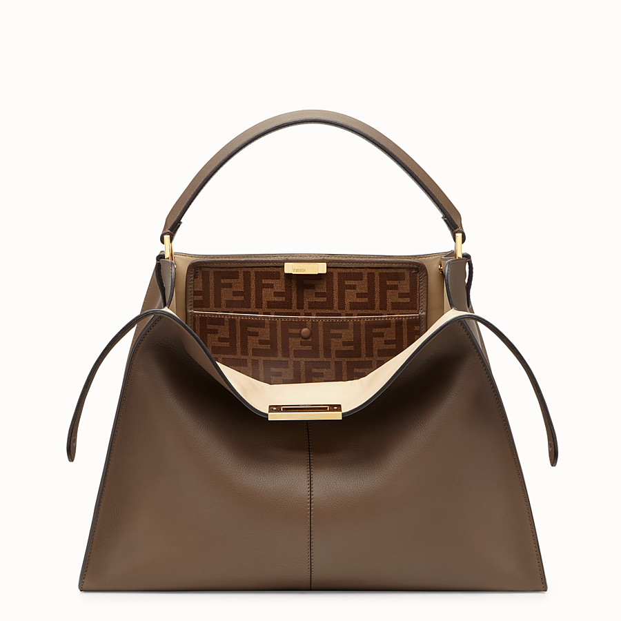 FENDI PEEKABOO X-LITE - Brown leather bag - view 1 detail