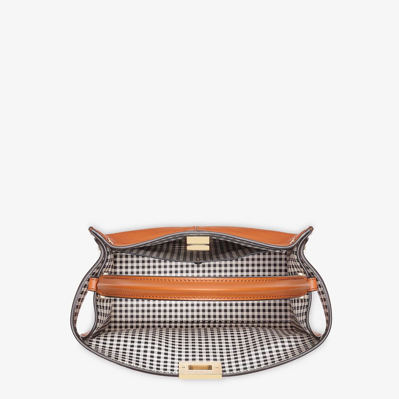 FENDI PEEKABOO X-LITE MEDIUM - Brown leather and check bag - view 5 detail