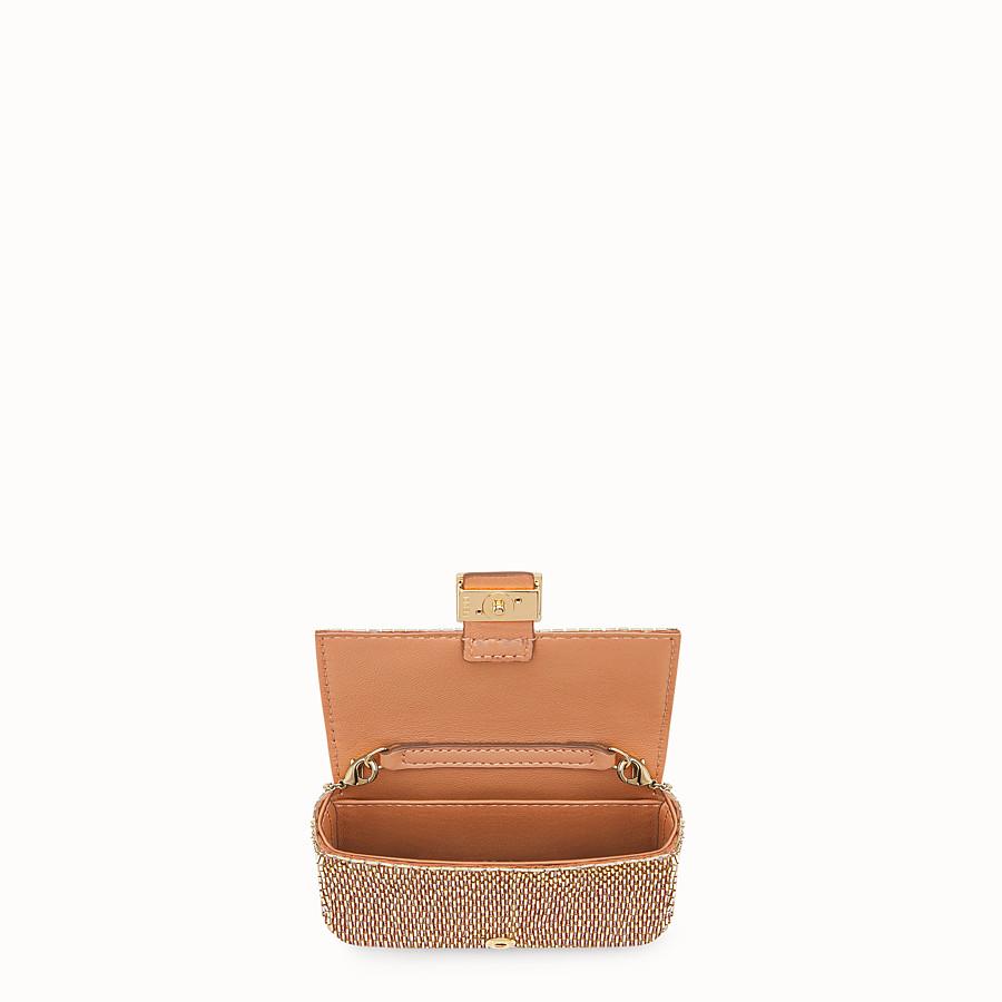 FENDI NANO BAGUETTE - Brown leather charm - view 4 detail