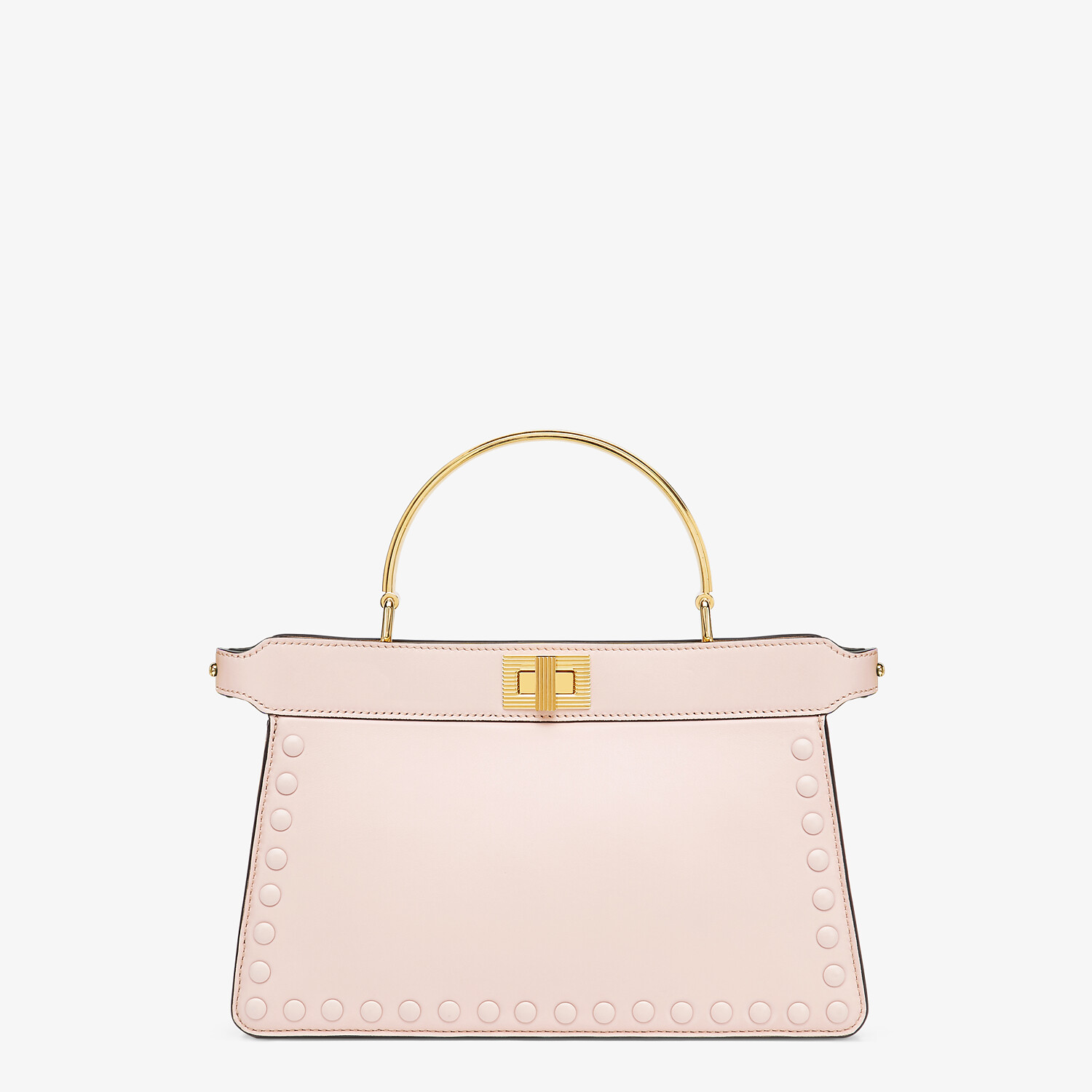 FENDI PEEKABOO ISEEU EAST-WEST - Pink leather bag - view 1 detail