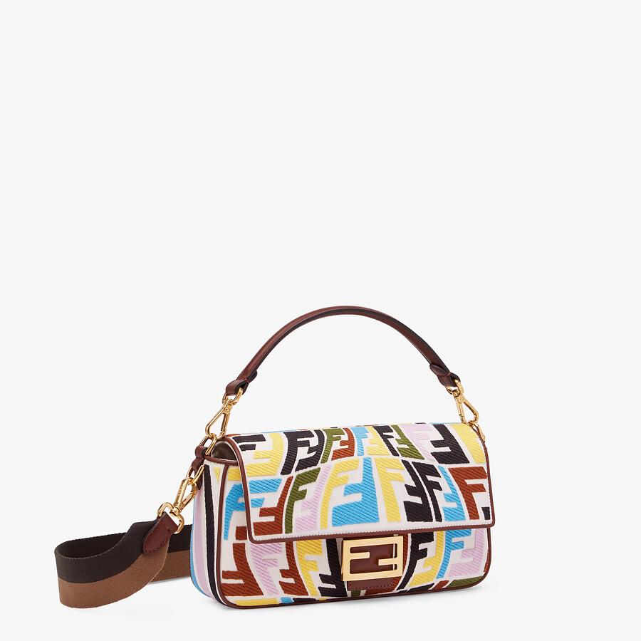 FENDI BAGUETTE - Multicolour embroidered canvas bag - view 3 detail