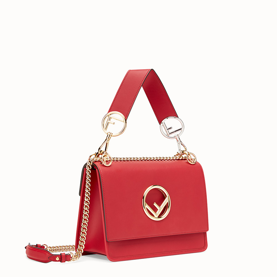 FENDI KAN I F - Red leather bag - view 2 detail