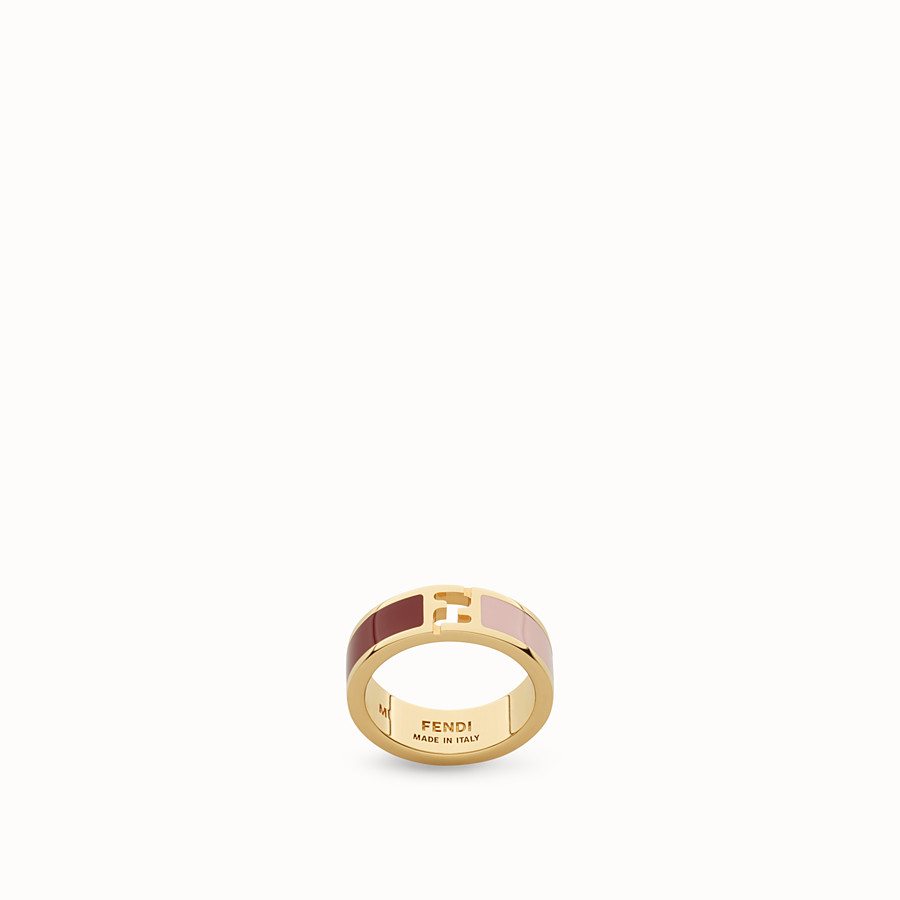 FENDI THE FENDISTA RING - enamelled burgundy and pink - view 1 detail