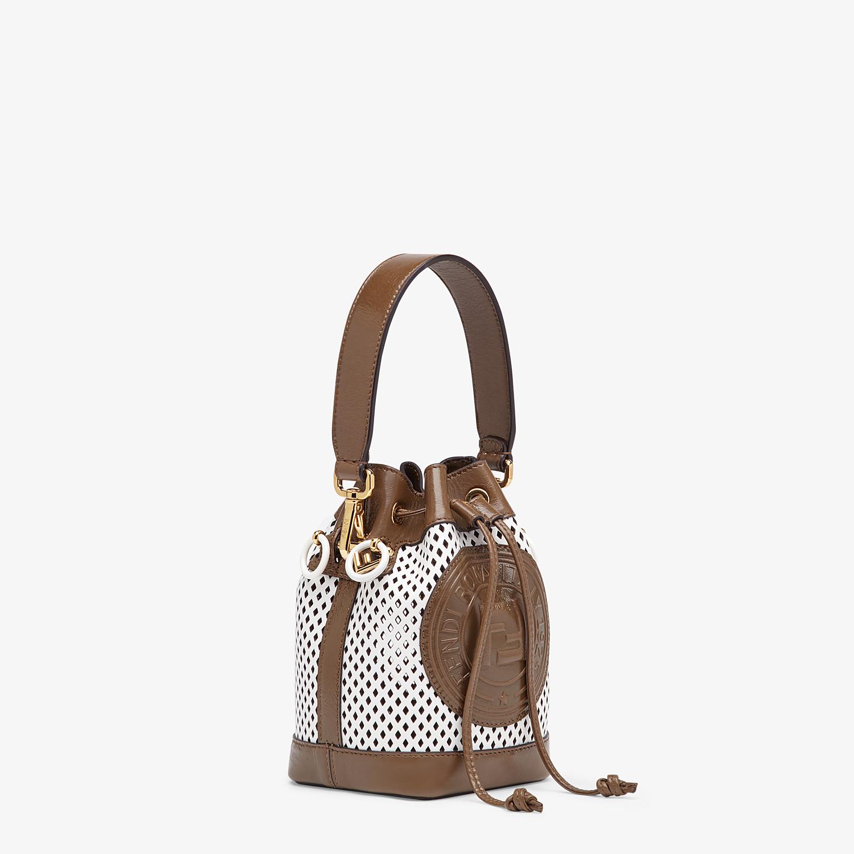 FENDI MON TRESOR - Minibag in pelle bianca - vista 3 dettaglio