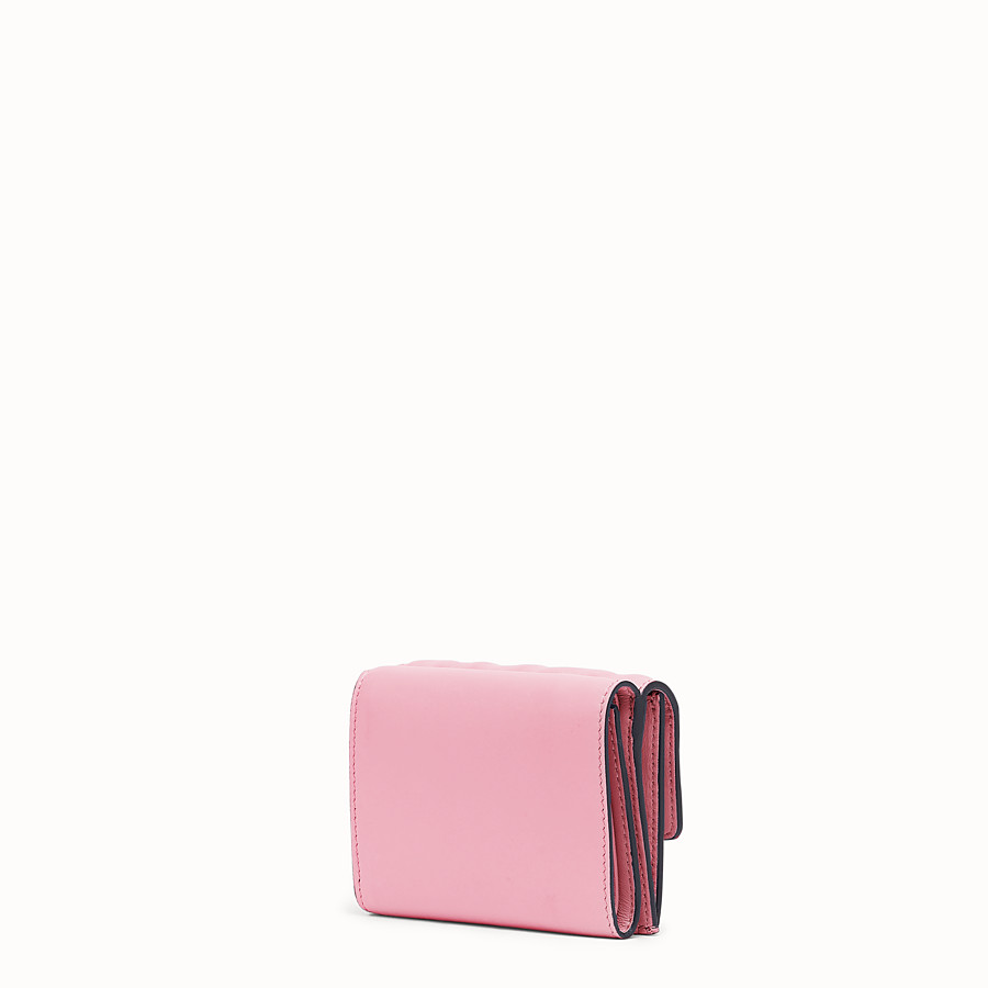 FENDI MICRO TRIFOLD - Pink nappa leather wallet - view 2 detail