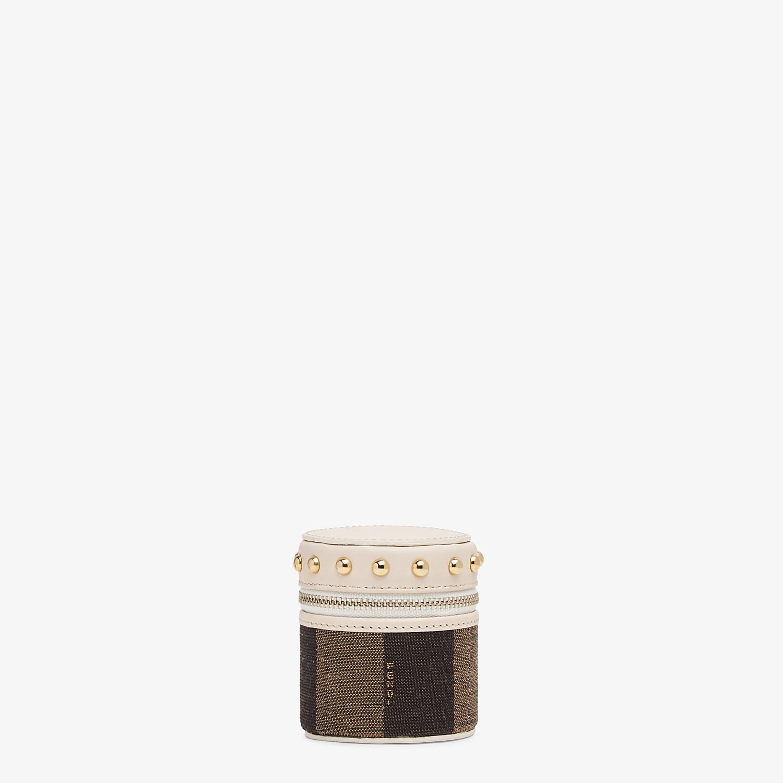 FENDI COFANETTO MINI - Cofanetto in jacquard marrone - vista 1 dettaglio