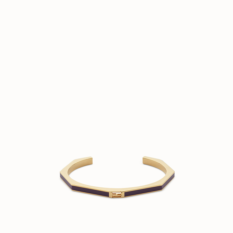 FENDI BAGUETTE BRACELET - Polished purple Baguette bangle - view 1 detail