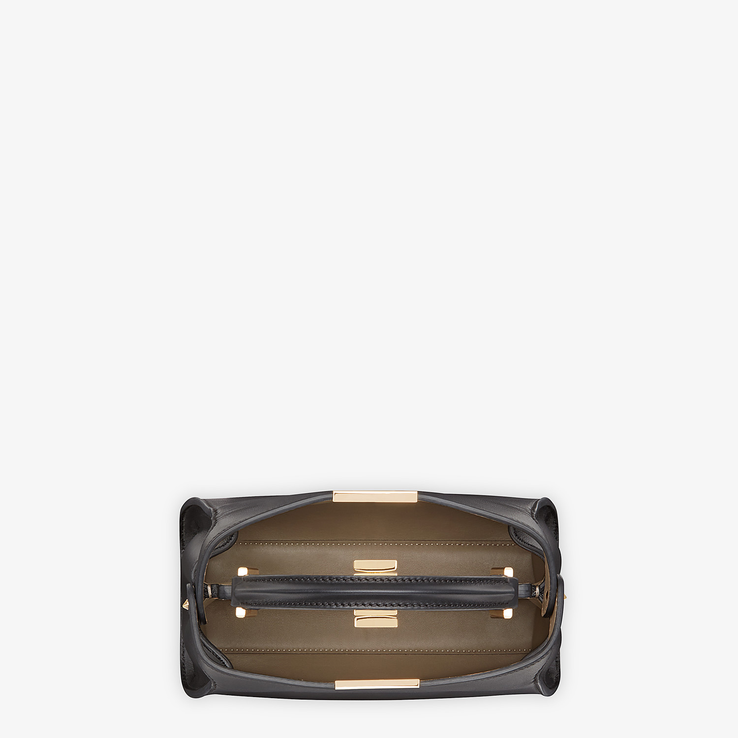 FENDI PEEKABOO ICONIC ESSENTIALLY - Black leather bag - view 5 detail