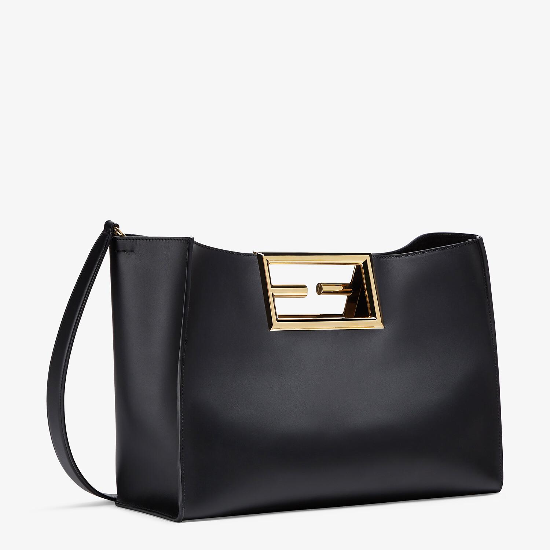FENDI FENDI WAY MEDIUM - Black leather bag - view 3 detail