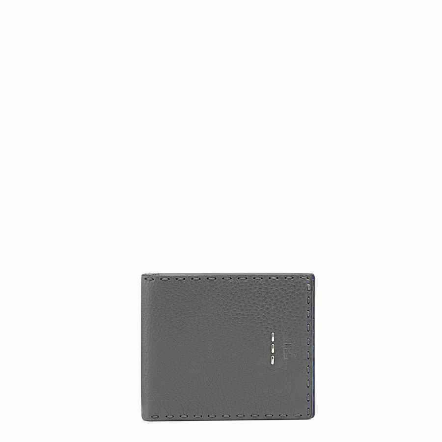 FENDI WALLET - Grey leather bi-fold wallet - view 1 detail